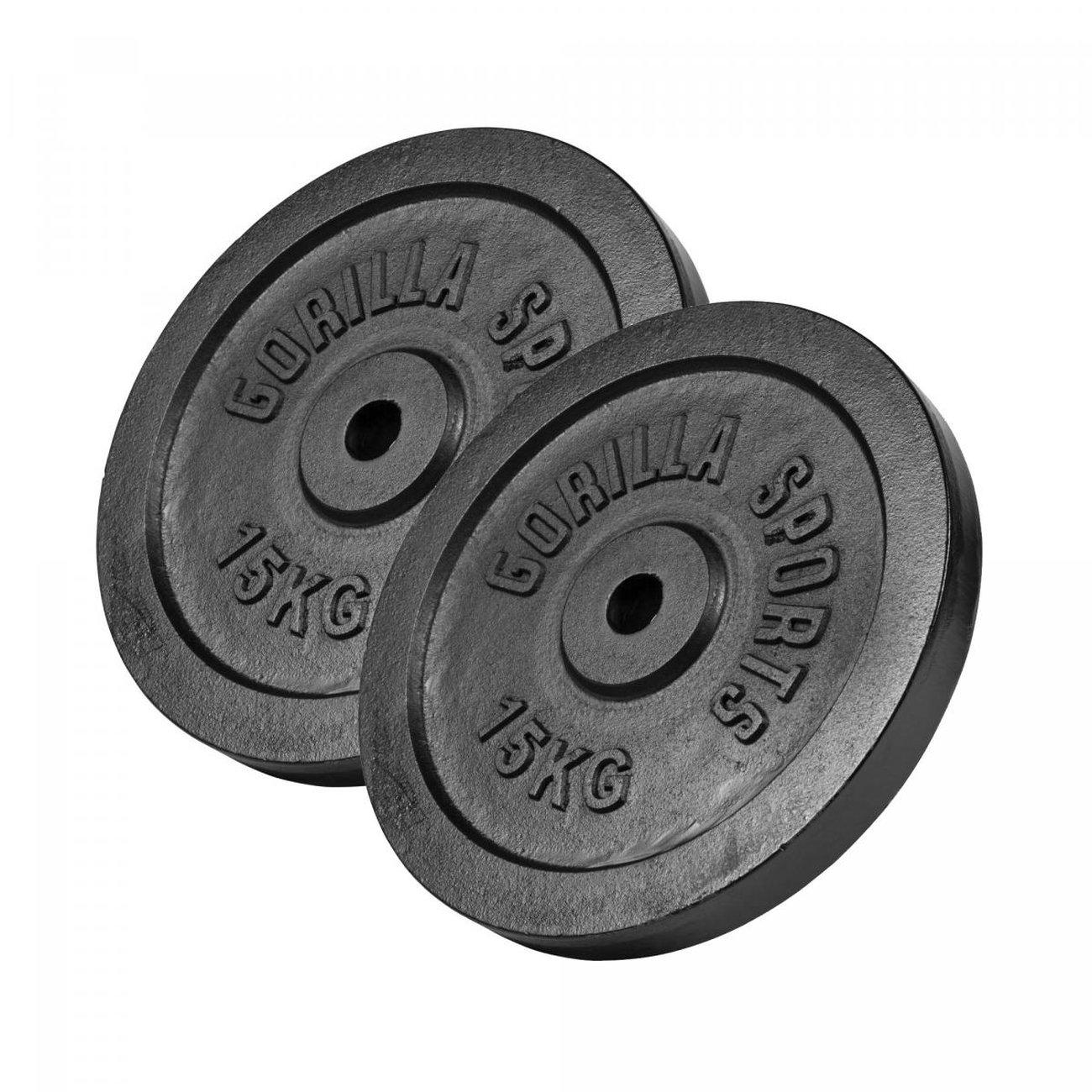 gorilla sports disques de poids en fonte noir de 05 kg a 30 kg 1 v5