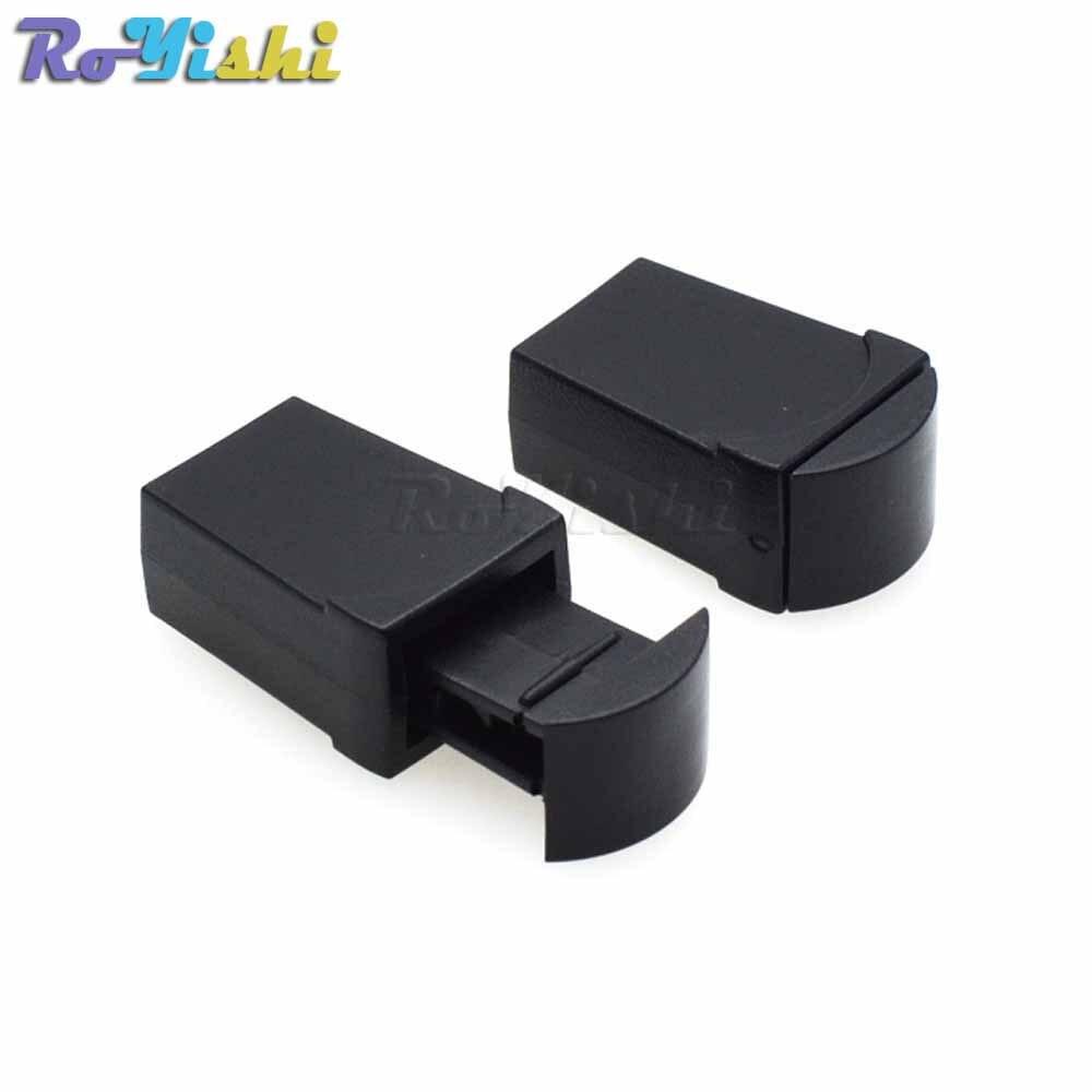 1000 pcs pack Zipper Cordon Termine Verrouillage Clips Corde Boucle Noir Pour Paracord