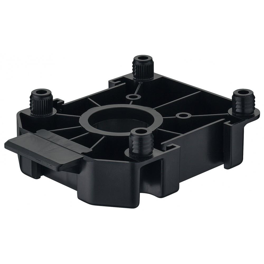 embase pour pieds de meubles axilo 78 plastique noir haefele square 1000x1000
