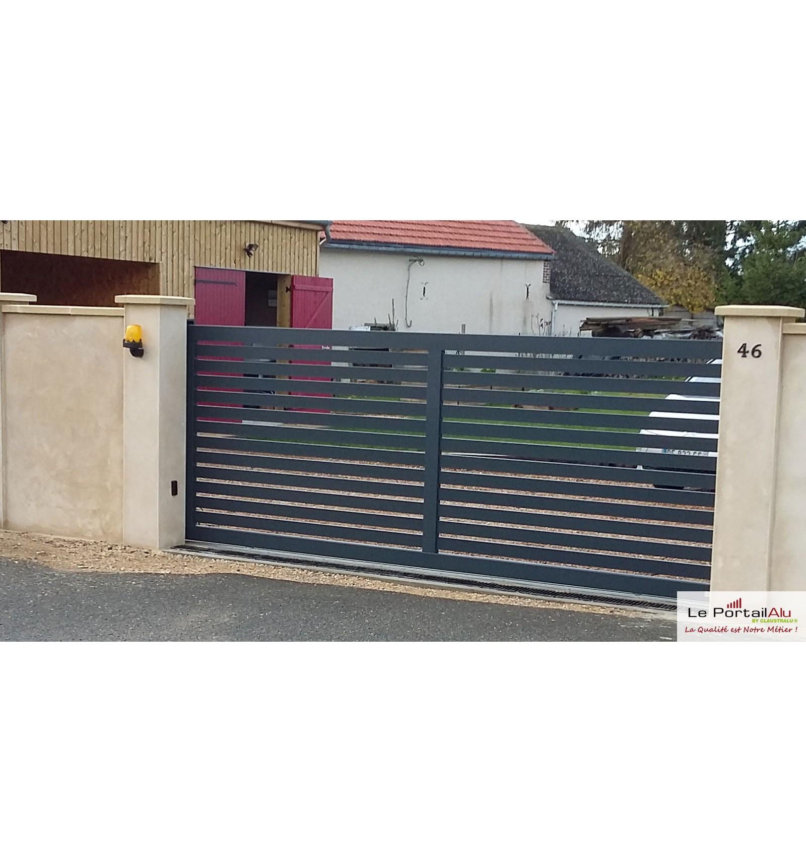 brico depot portail alu gris inspirant stock of garage metal en kit