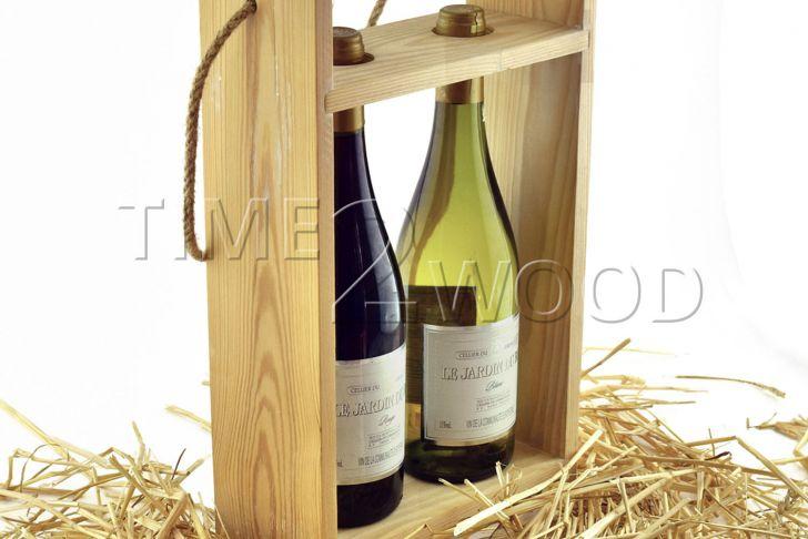 Salon De Jardi Élégant Деревянная коробка сумка на 2 бутыРки Time2wood