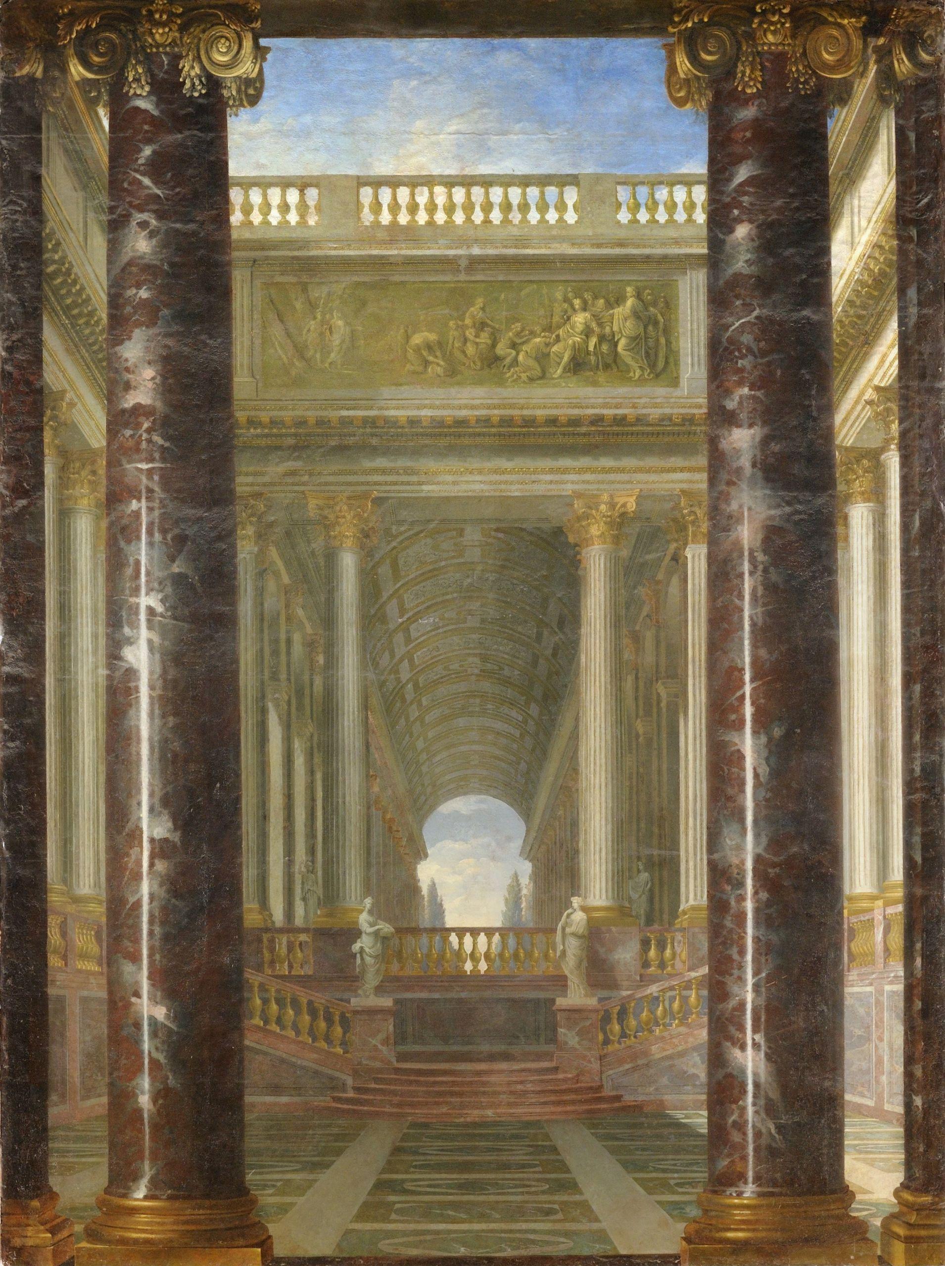 Jacques Rousseau Perspective de jardins Google Art Project