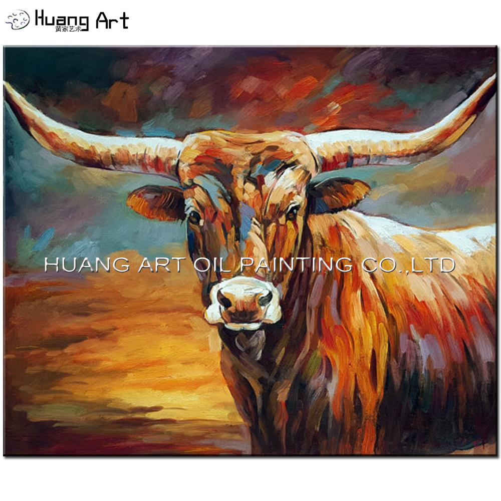 100 Bull Main La Peinture L huile par p tence Peintre Brun Huile Animale photo sur