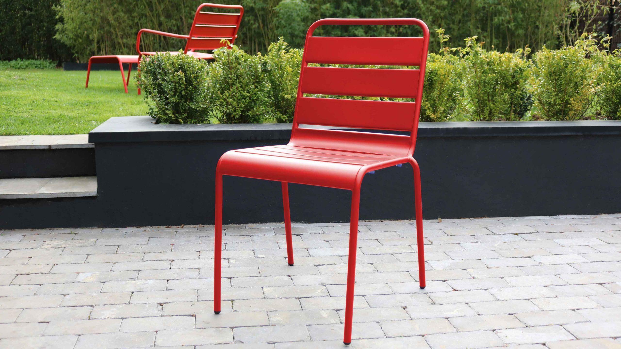 chaise de jardin en metal palavas