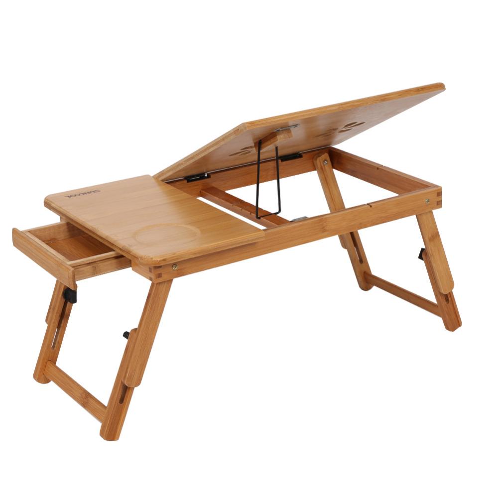 Bureau d ordinateur r glable Portable bambou ordinateur Portable Table pliante support d ordinateur Portable ordinateur