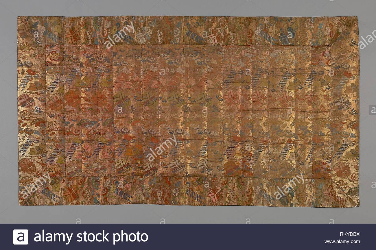 kesa late edo period early 19th century japan origin japan date medium silk and gold leaf over lacquered paper RKYDBX
