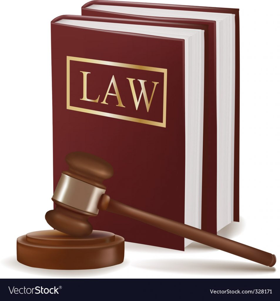 judge gavel and law books vector 953x1024