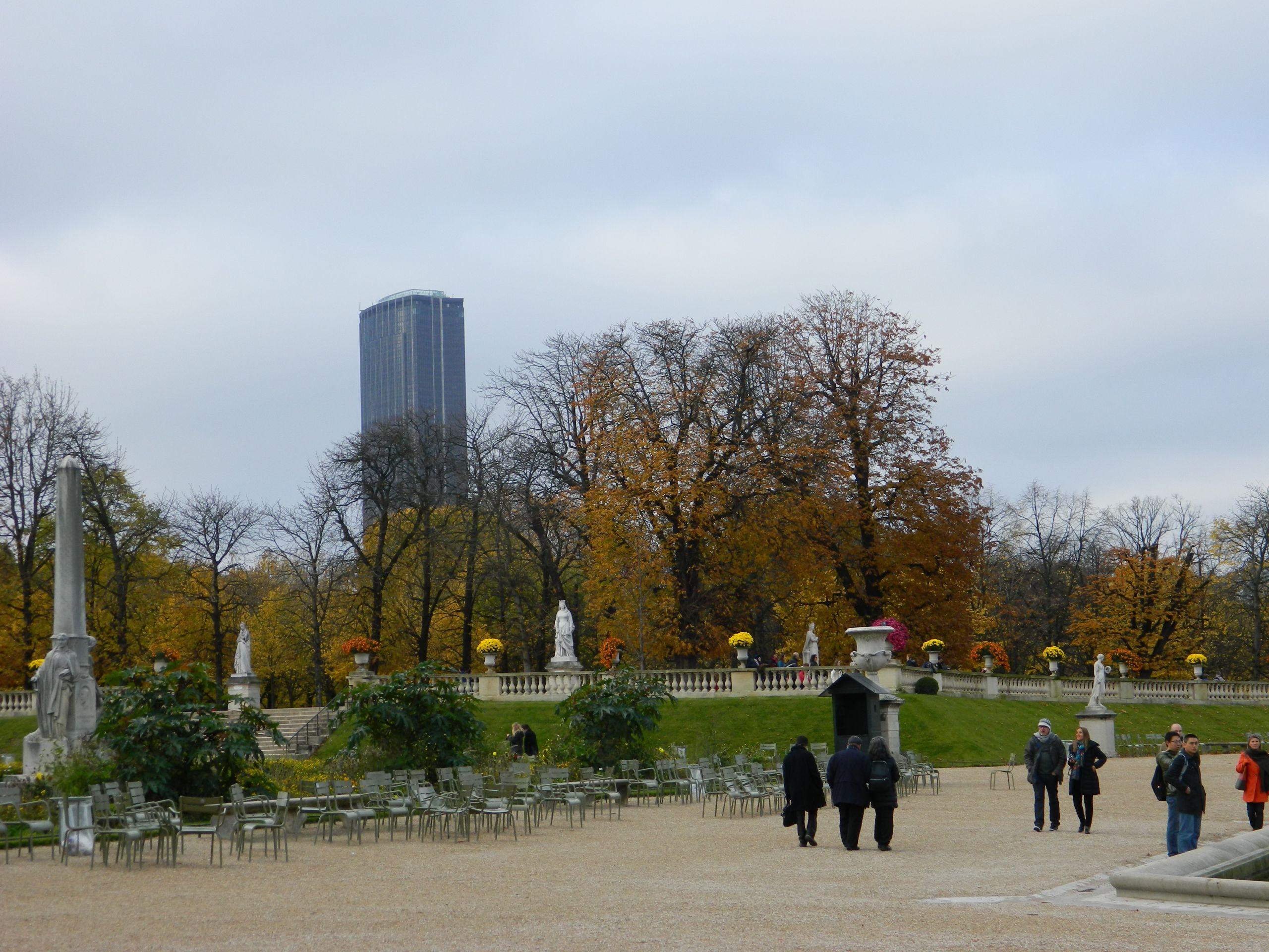 Paris Jardin du Luxembourg Fer à Cheval parterre et terrasse ouest