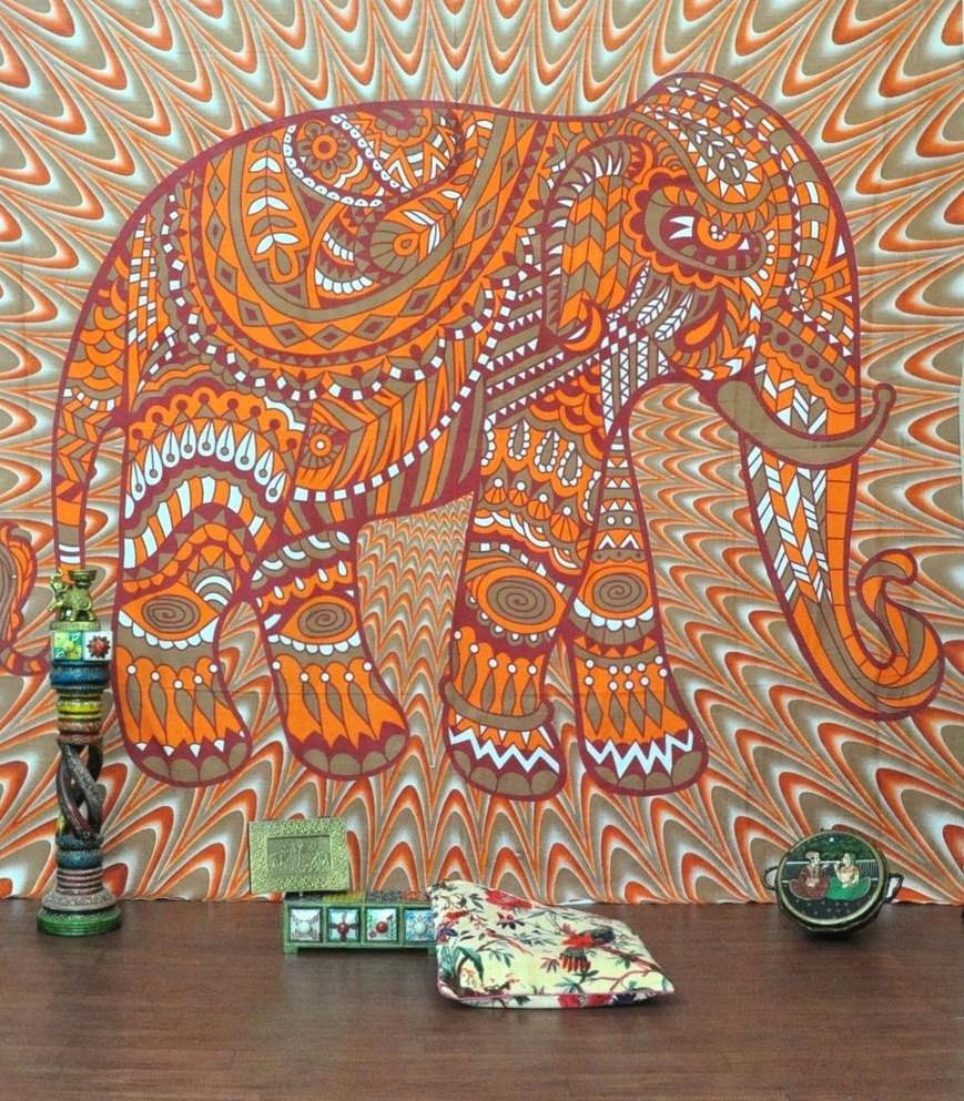 CAMMITEVER Carré Tapisserie Éléphant Serviettes De Bain De Mode Lady Filles Portable Magique Serviette de Plage