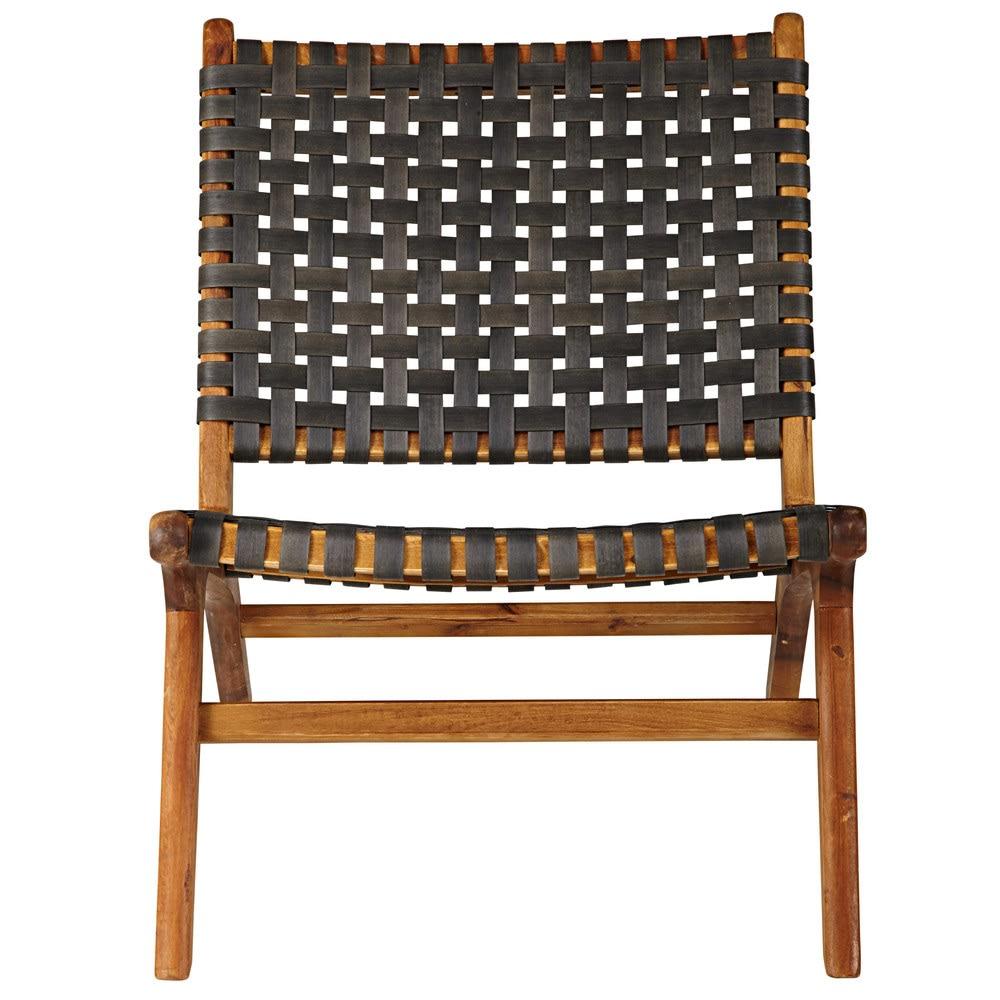 fauteuil de jardin en acacia massif et resine tressee coloris charbon 1000 15 29 2