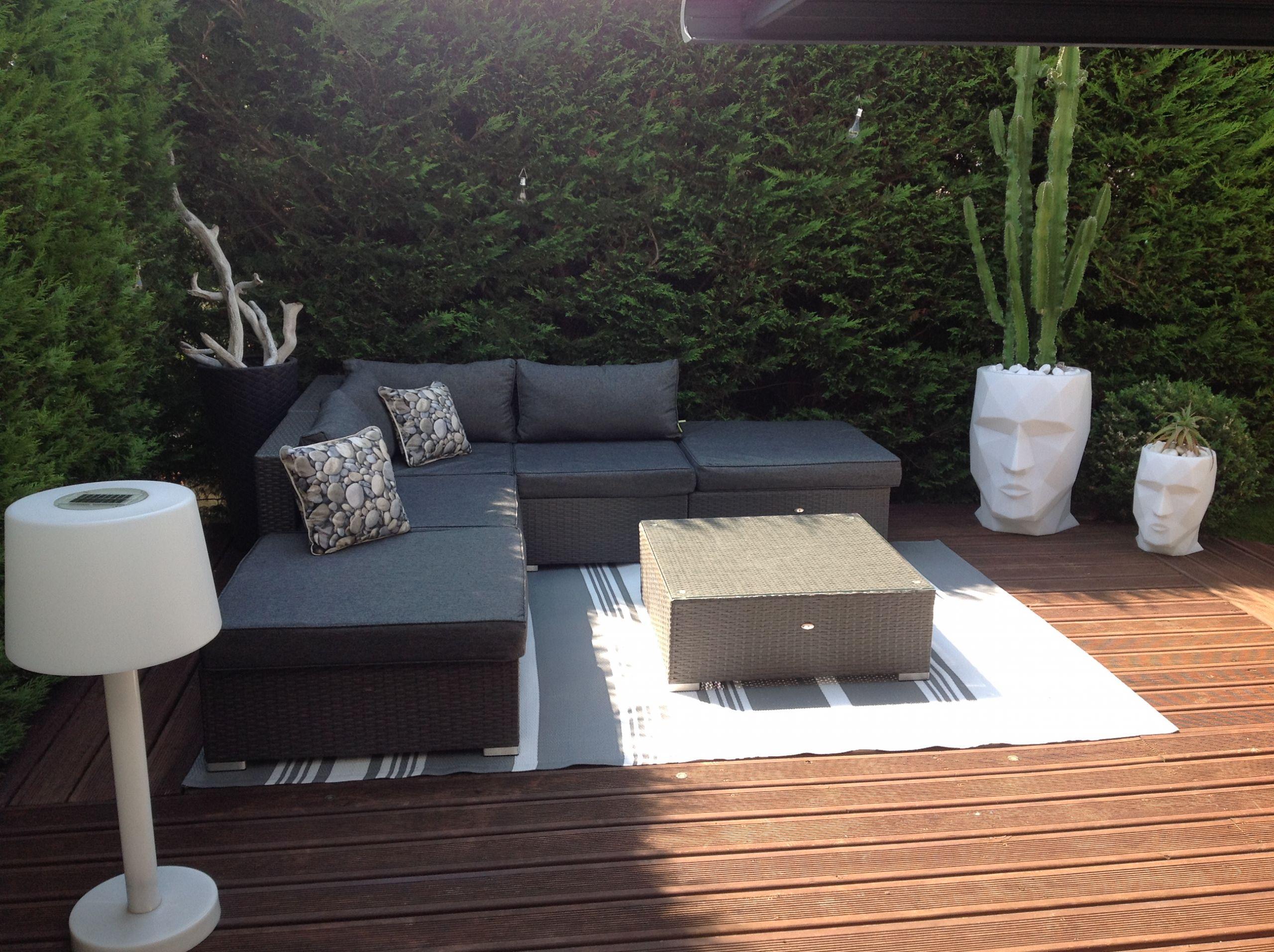 Salon De Jardin En Rotin Naturel Génial Salon Exterieur Terrasse