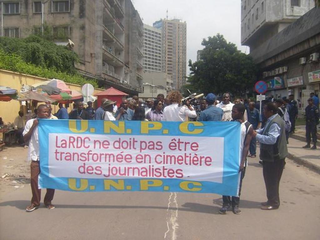2009 10 07 Manifestation journalistes à Kinshasa