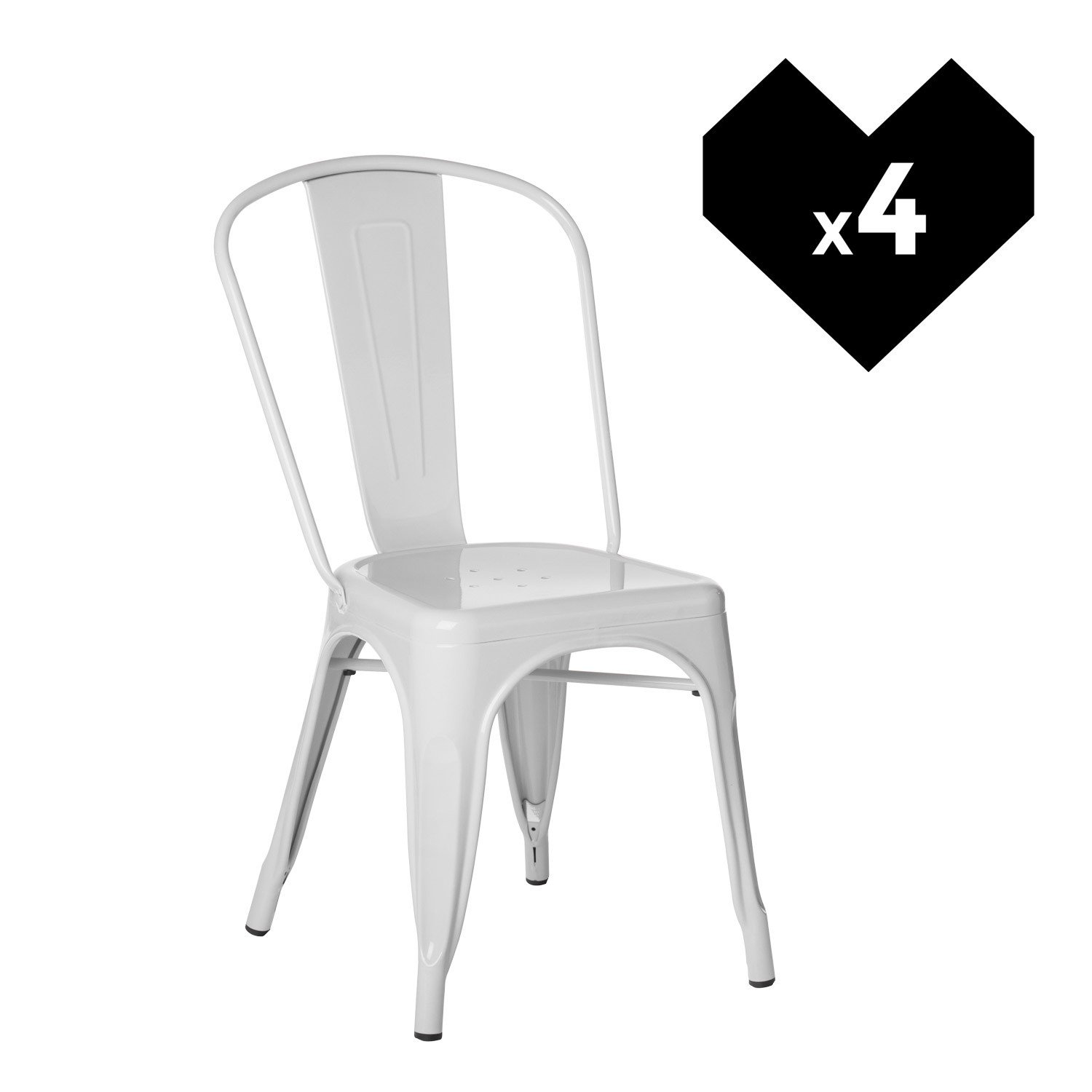 pack 4 chaises lix