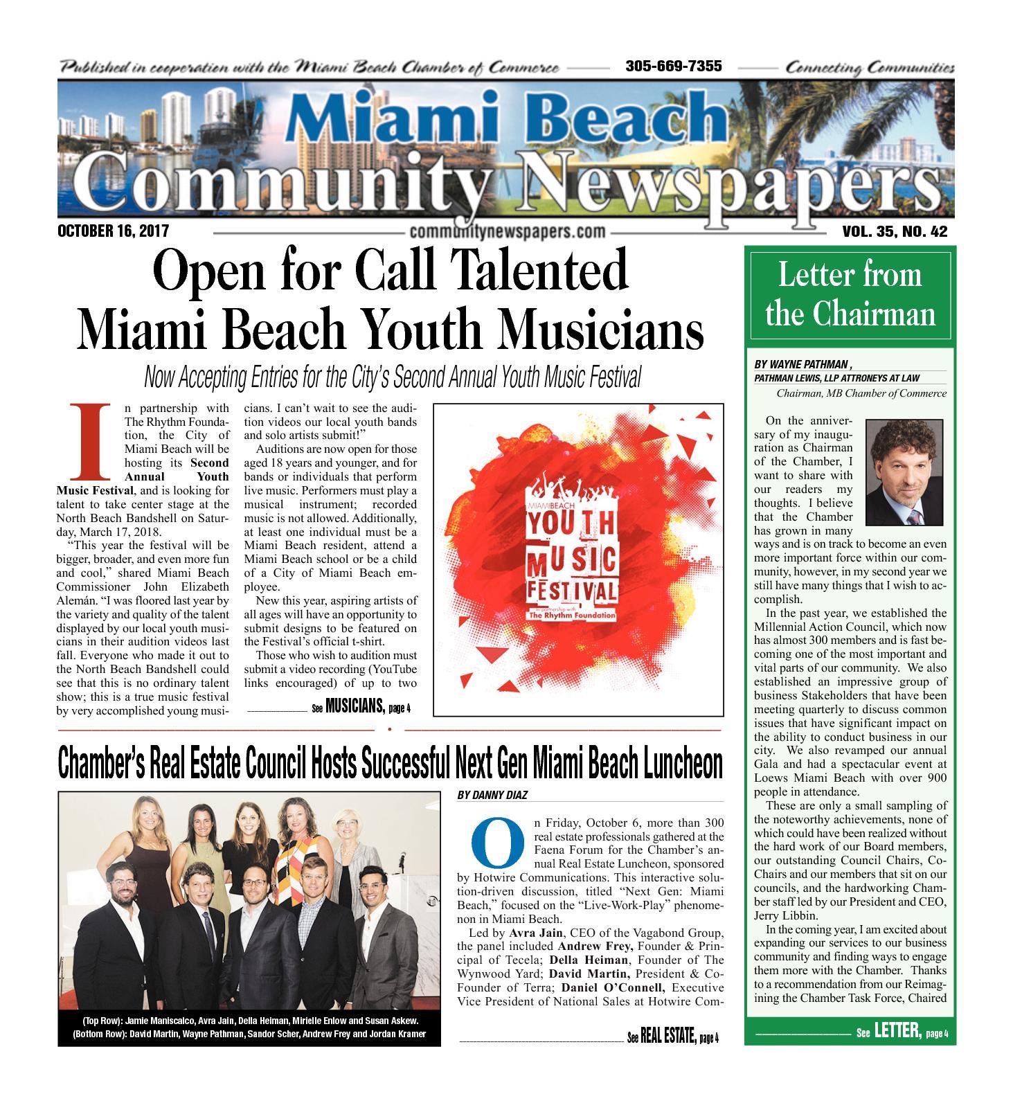 Salon De Jardin Miami Unique Calaméo Miami Beach News 10 16 2017
