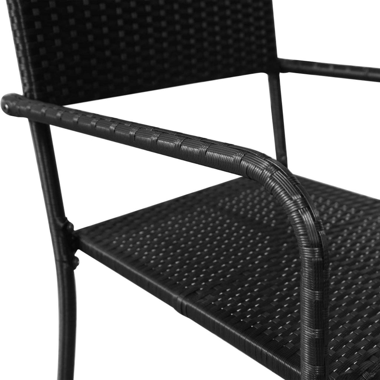 vidaxl chaises de salle a manger dexterieur 2 pcs resine tressee noir 5 v2