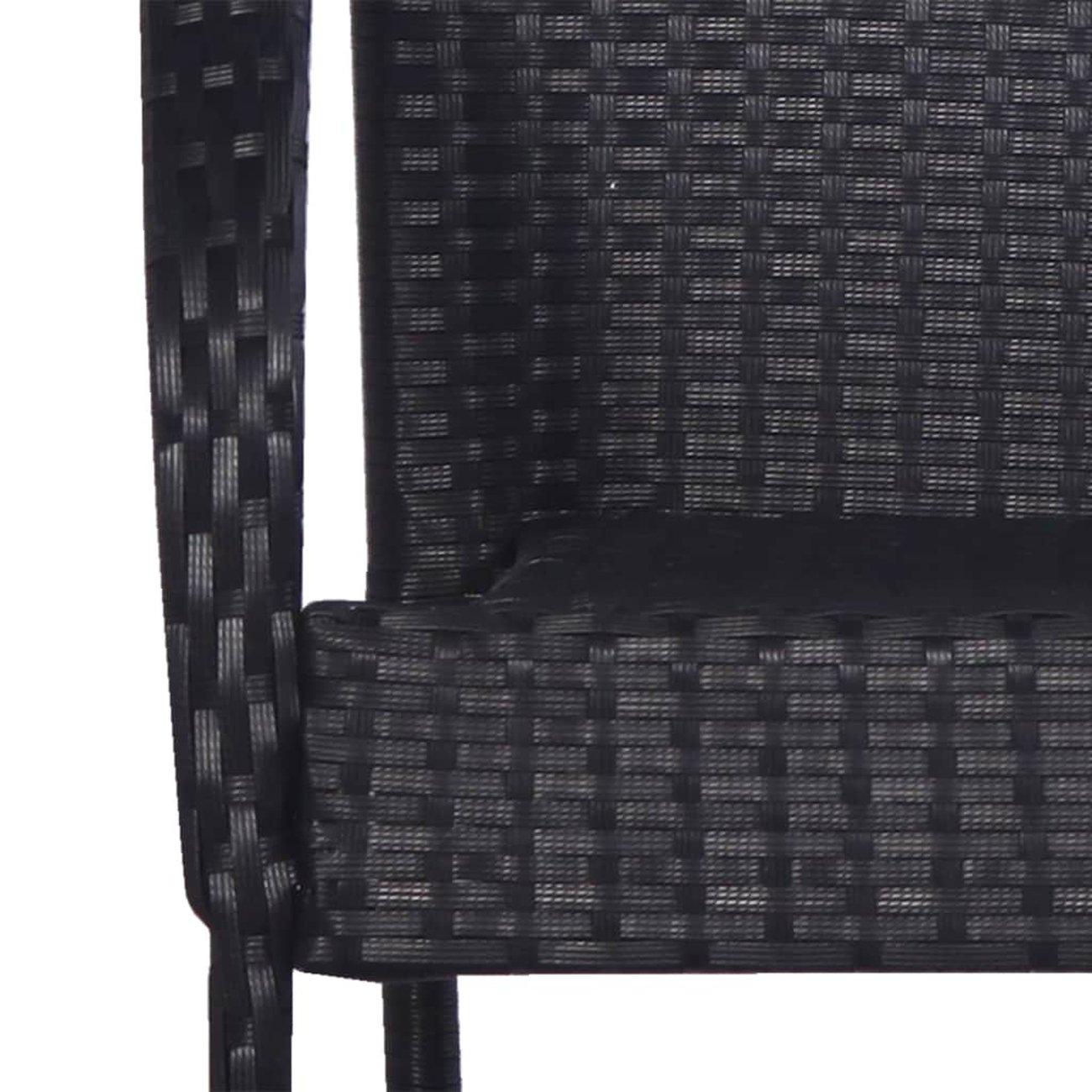 vidaxl chaises empilables dexterieur 2 pcs resine tressee noir 5 v2