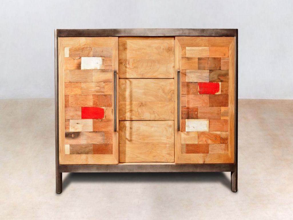 mode porte coulissante frais meuble mode en bois recyclC383 6 tiroirs mC383 tal industryal of mode porte coulissante