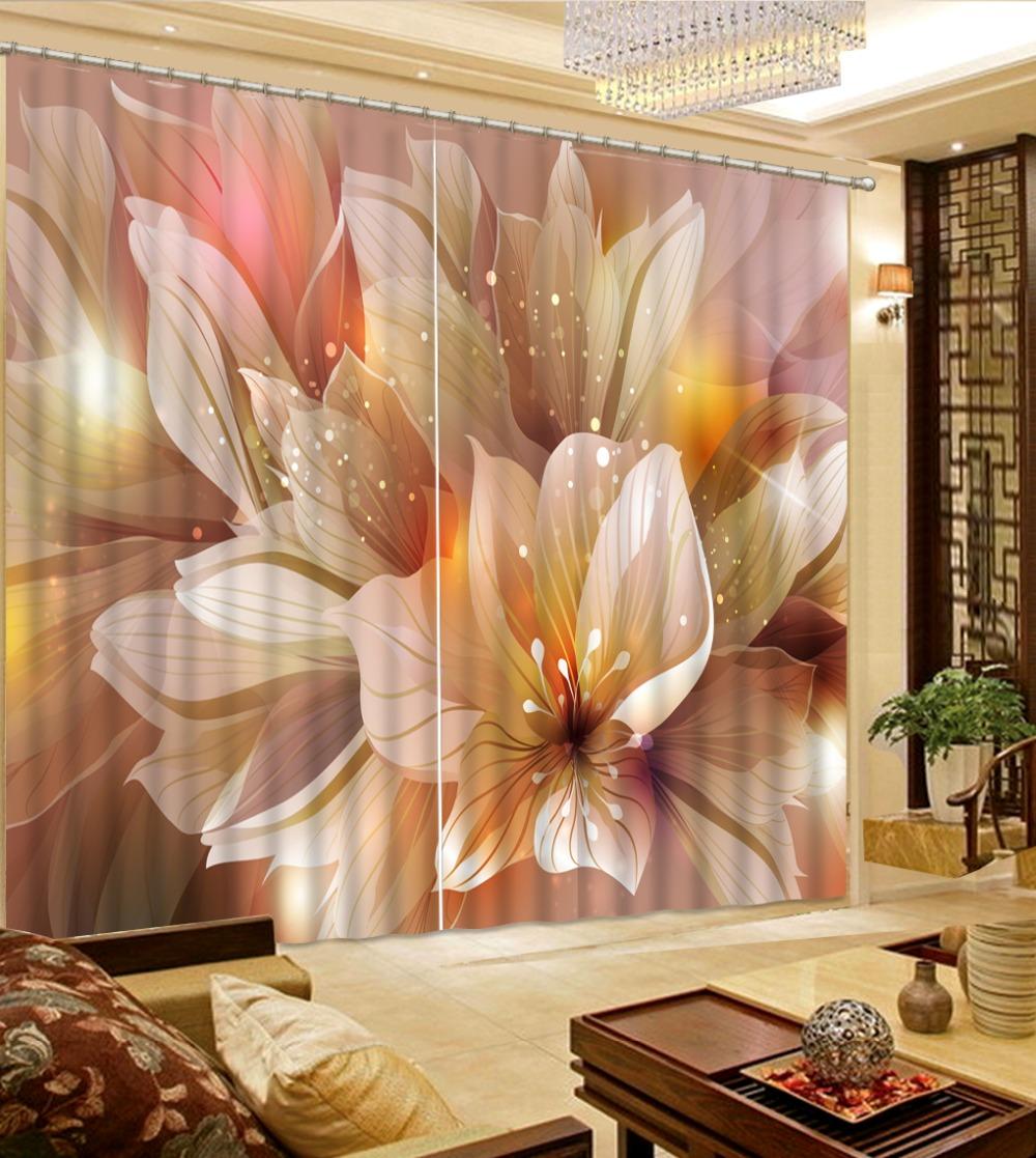 Europ en 3D rideau fleur fantaisie imprim rideaux transparents pour cuisine romantique filles chambre rideaux rideaux