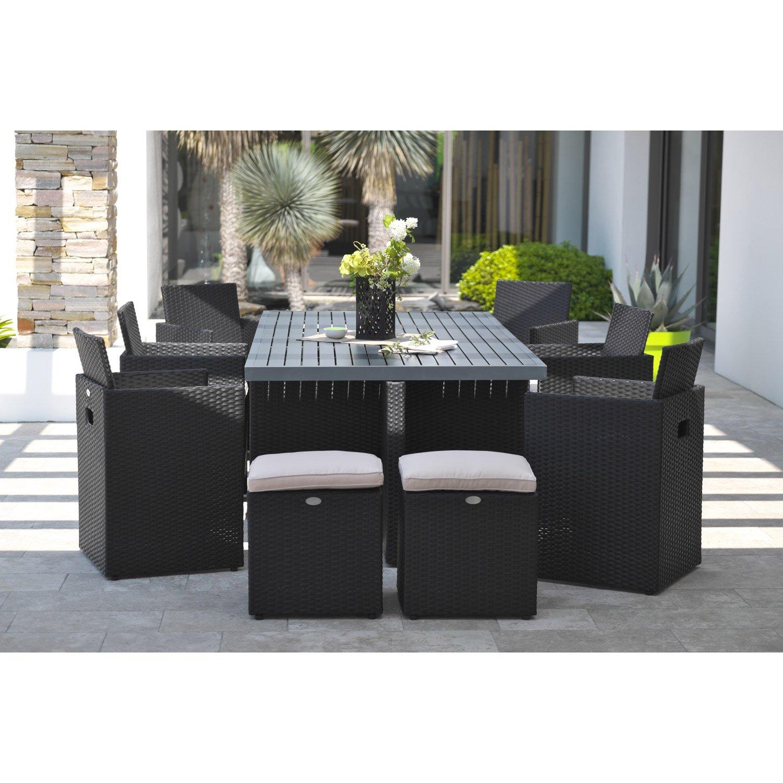 la redoute salon de jardin resine tressee magnifique table jardin 10 personnes 4