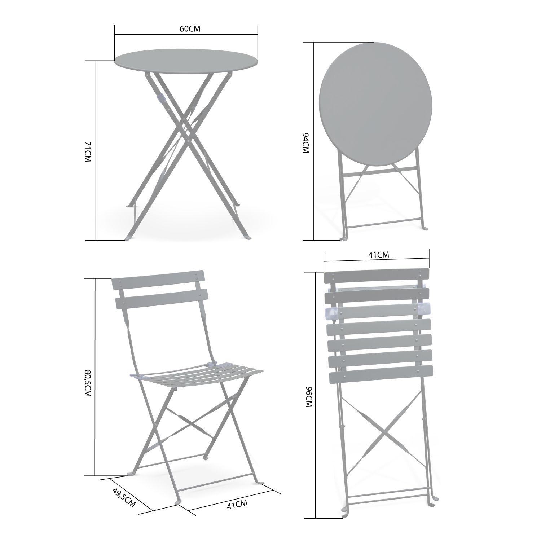 salon de jardin bistrot pliable emilia rond vert d eau table 60cm avec deux chaises pliantes acier thermolaque b4721bd4f489c640f d15e885b4b