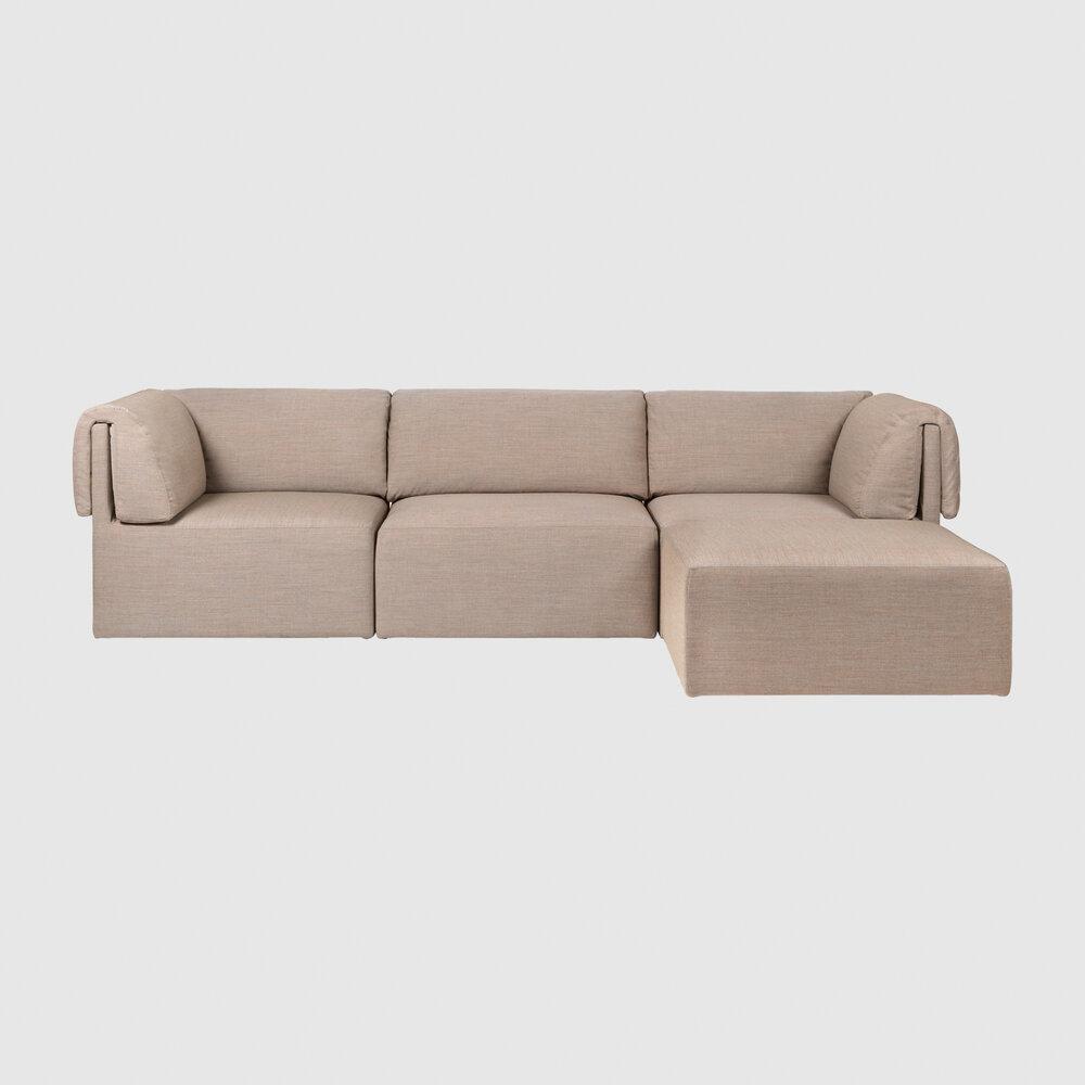 Wonder Sofa 3 seater withChaiseLongue Kvadrat Remix 2 0242 Front
