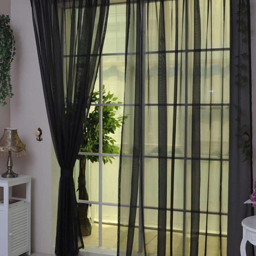 Rideaux en Tulle Design Simple pour salon balcon rideaux en Tulle Transparent fen tre transparente pour