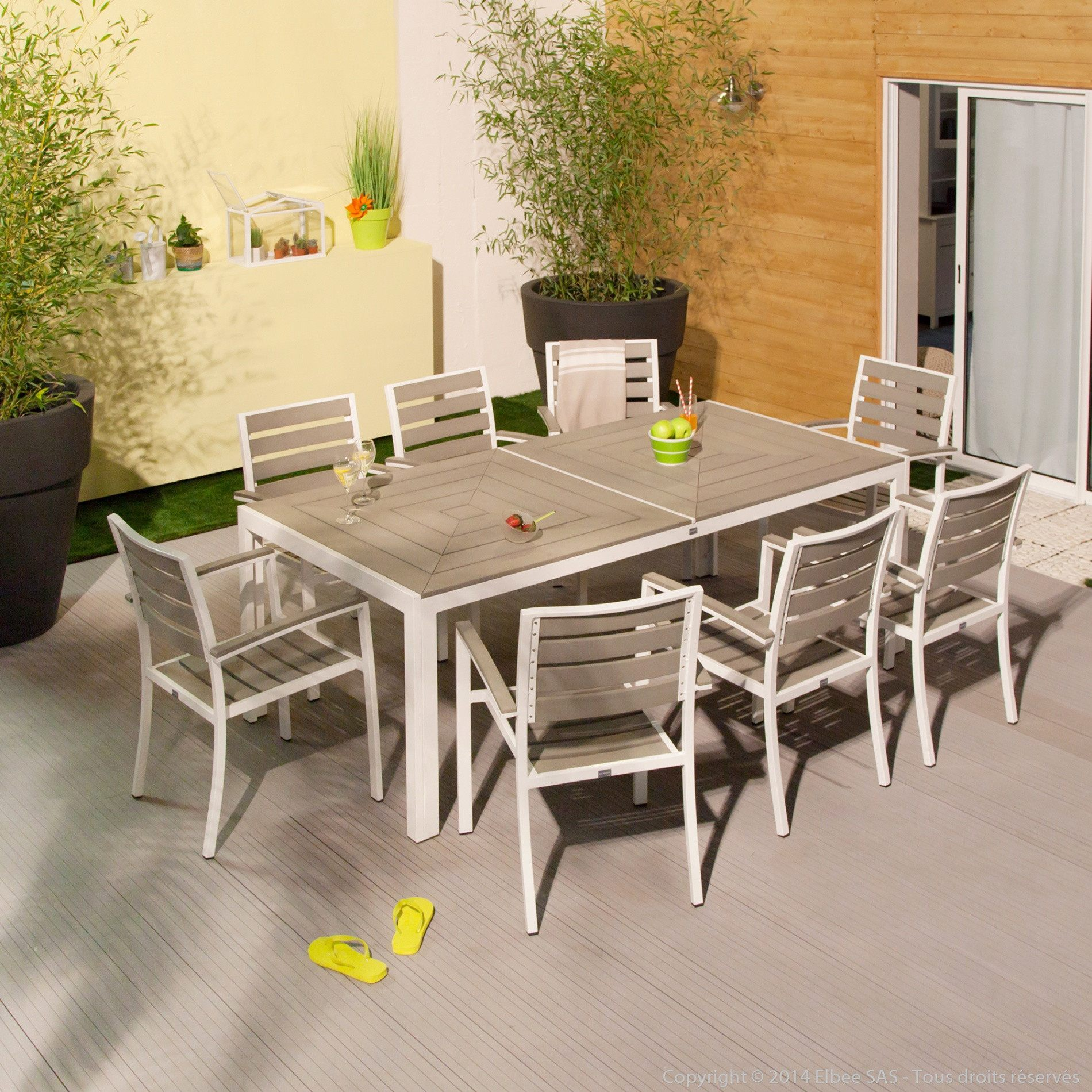 Salon Jardin Encastrable Génial Table Terrasse Pas Cher