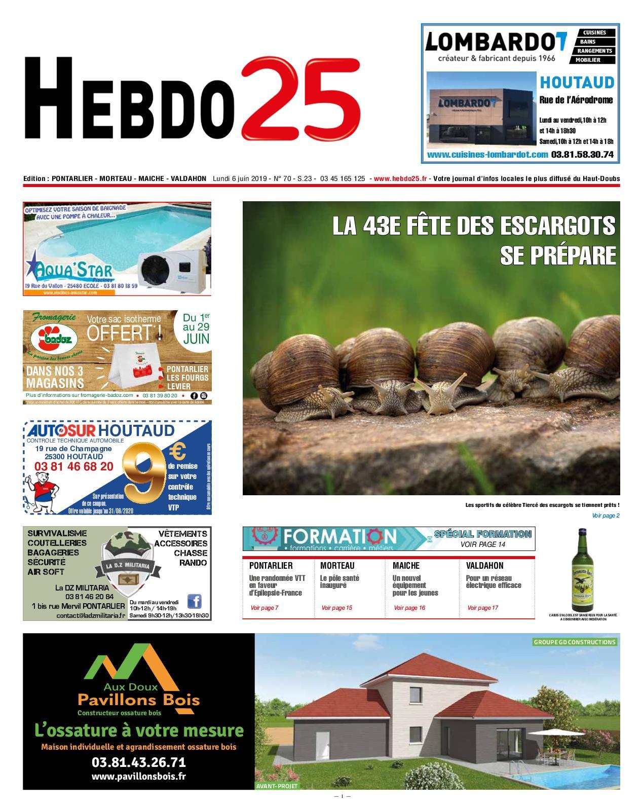 Salon Jardin Fer forgé Luxe Calaméo Hebdo Pontarlier 2019 Semaine 23 Of 37 Inspirant Salon Jardin Fer forgé