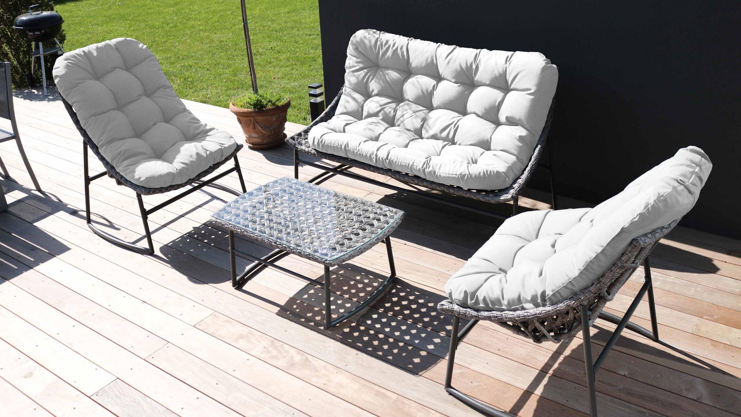 Salon Jardin Inspirant Salons De Jardin Oviala Salon De Jardin 4 Places En Résine