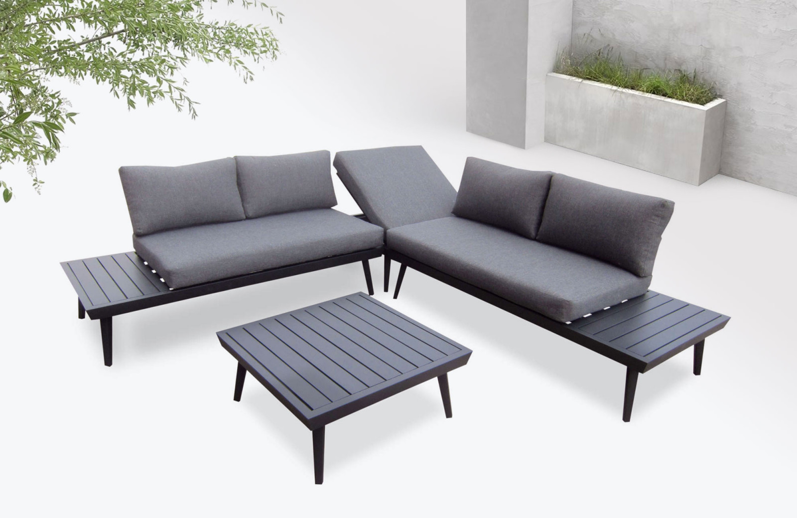 Salon Jardin Luxe Garden Furniture Aluminium Vigo