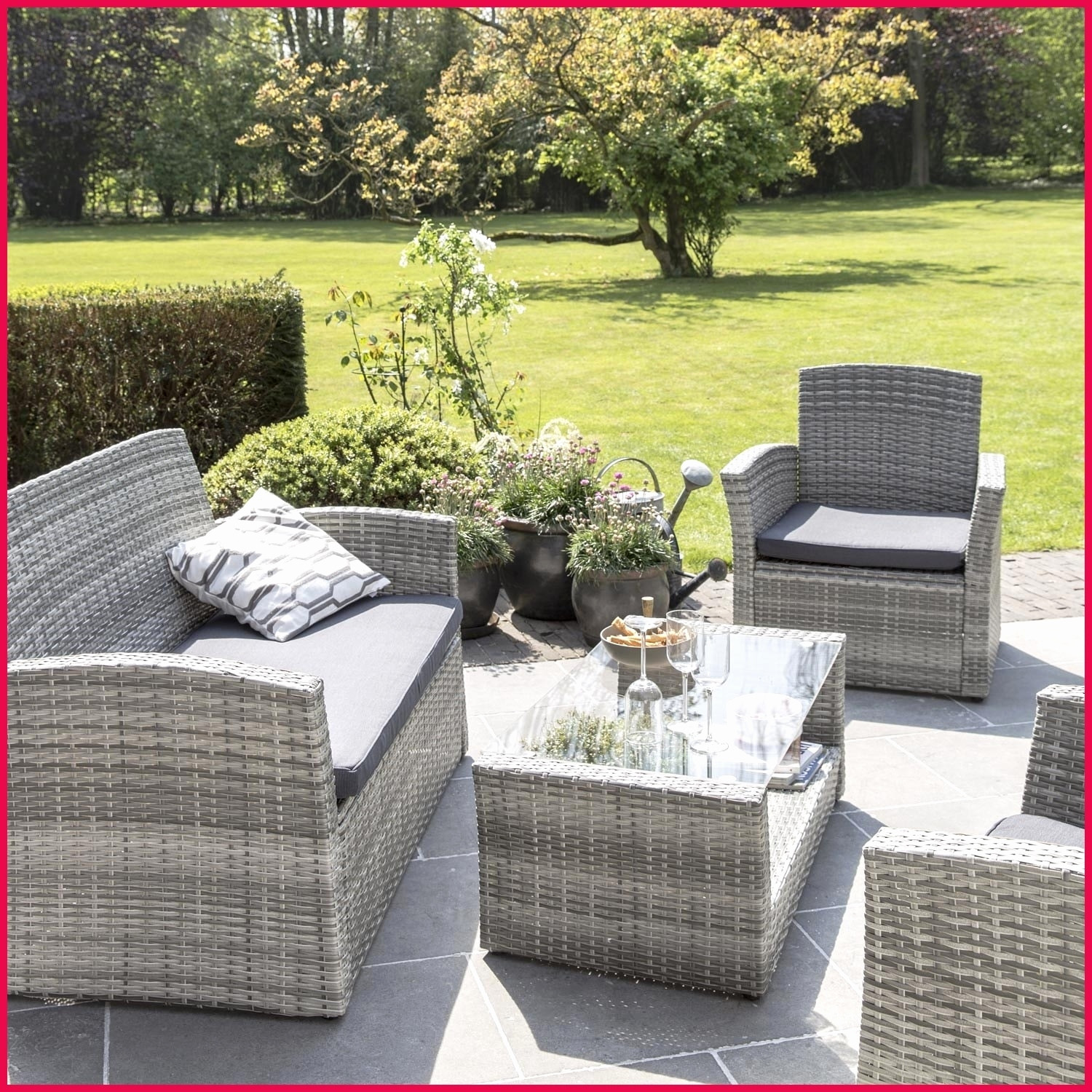 Salon Jardin Osier Luxe Beautiful Salon De Jardin En Rotin Le Bon Coin Of 21 Charmant Salon Jardin Osier
