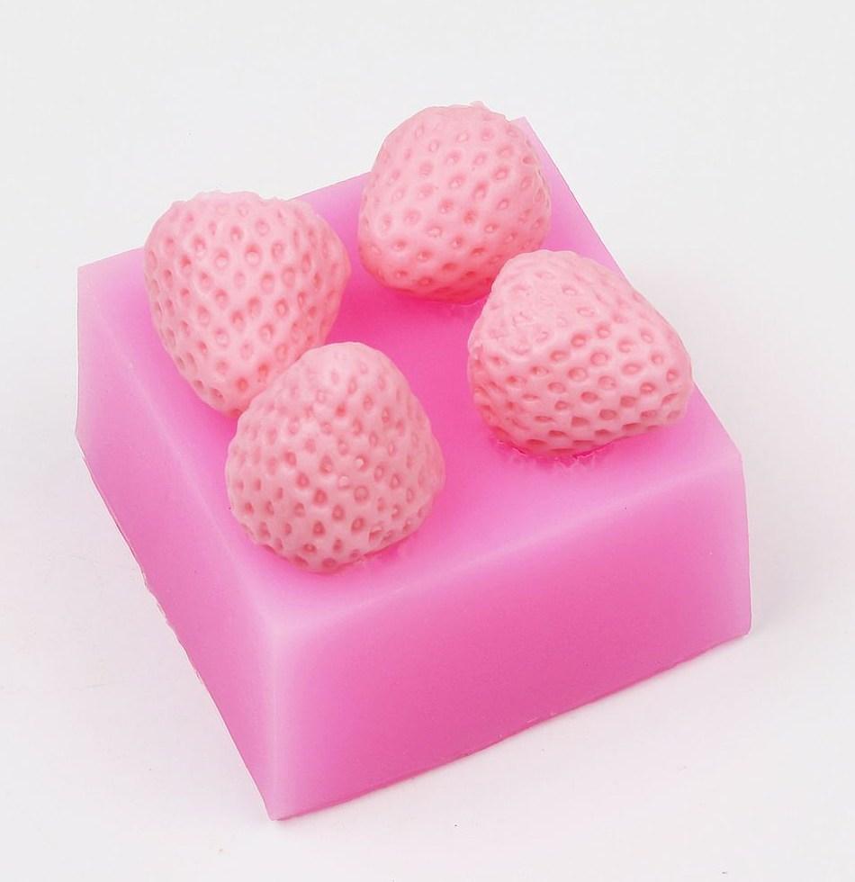 Luyou 3D силиконовые прекрасный DIY клубника помадка торт Sugarcraft вставить украшения силиконовые формы FM1264