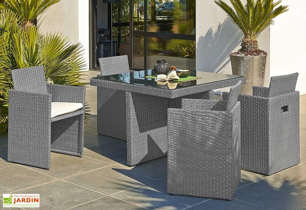salon de jardin en r sine tress e encastrable gris 1 table 4 fts 2