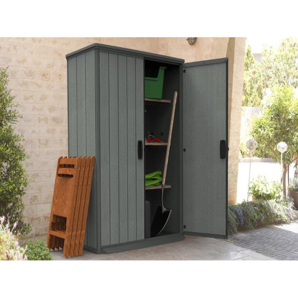 merveilleux salon de jardin leroy merlin resine 3 armoire de jardin r233sine gris l 80 5 x h 185 x p 138 cm 952x952