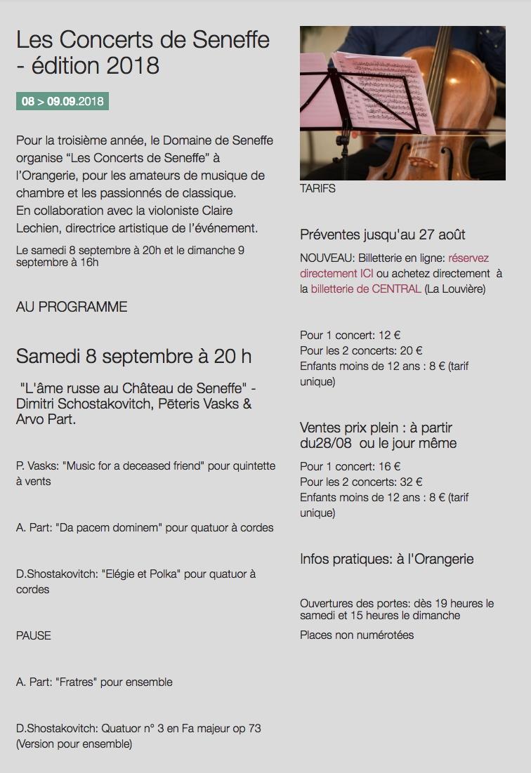 RC Page Internet L âme russe au Château de Seneffe Dimitri Schostakovitch Pēteris Vasks & Arvo Part % 09 08