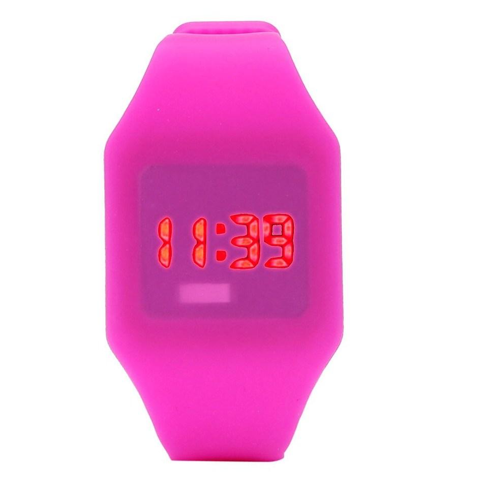Мужские Женские Силиконовые Часы светодиодный часы Водонепроницаемый спортивный браслет цифровой наручные часы wholesaleF3
