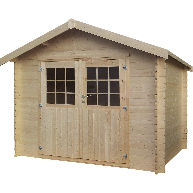abri de jardin bois kirkland 6 77 m2 ep 28 mm