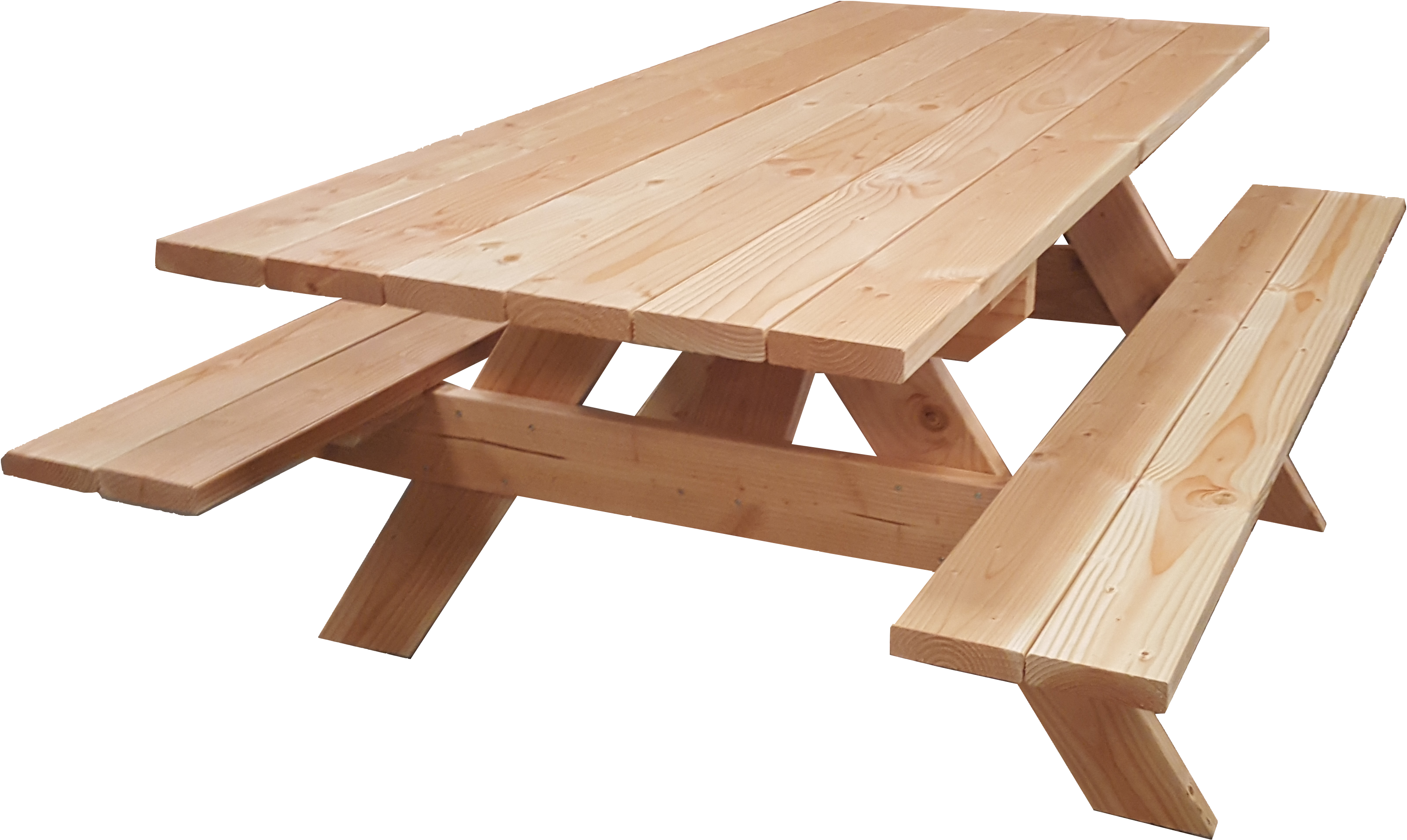 table banc de pique nique 6 personnes pmr douglas naturel 2m