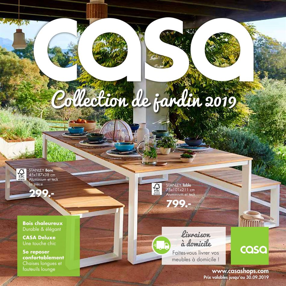 Table Banc Exterieur Nouveau Casa – Dépliant Du 18 08 2019 Au 30 09 2019 – Page 1 Of 27 Luxe Table Banc Exterieur