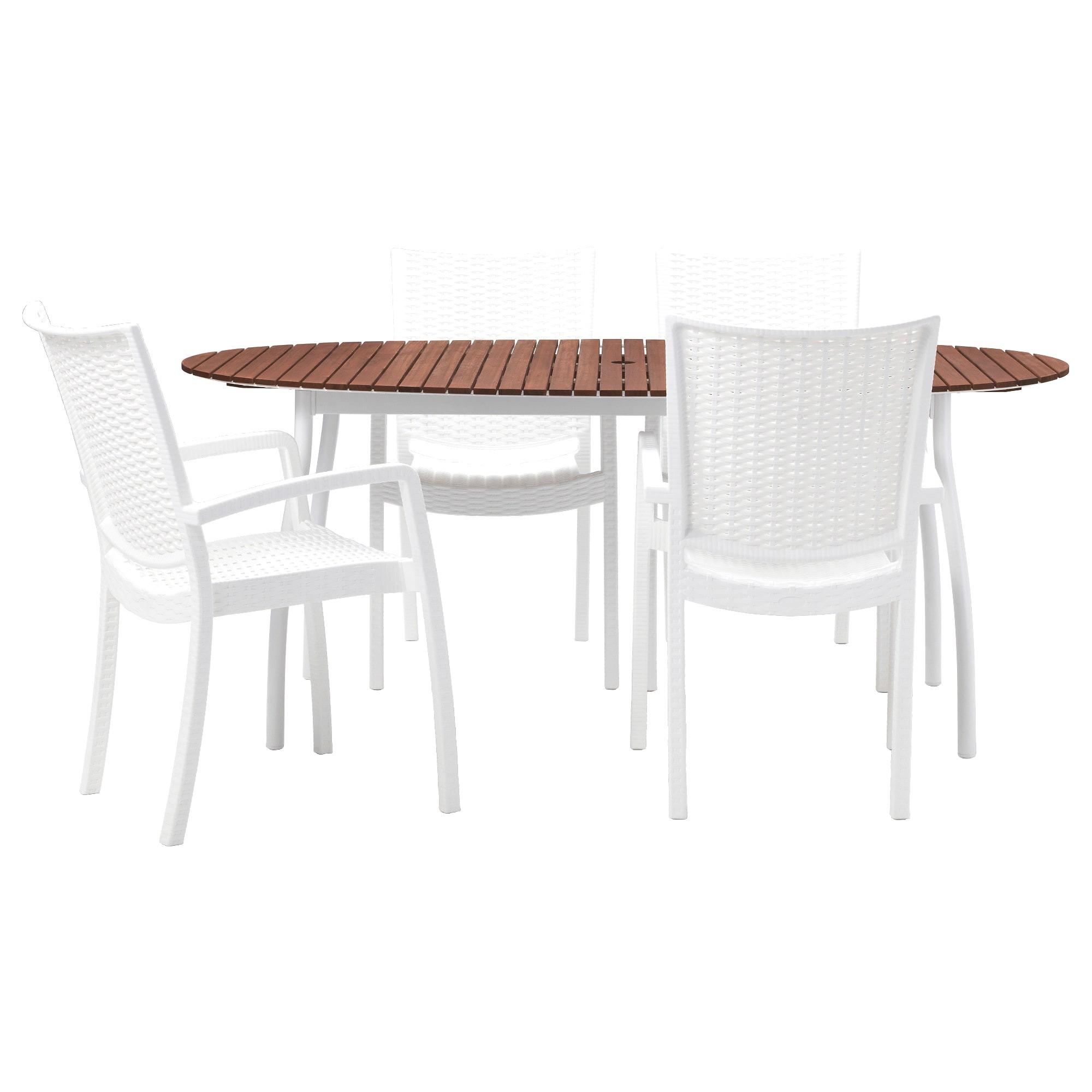 table chaise de jardin ikea avec innamo vindals c3 b6 table4 chaises accoud ext c3 a9rieur blanc teint c3 a9 brun pe s5 et table bistrot ikea 1 2000x2000px table bistrot ikea