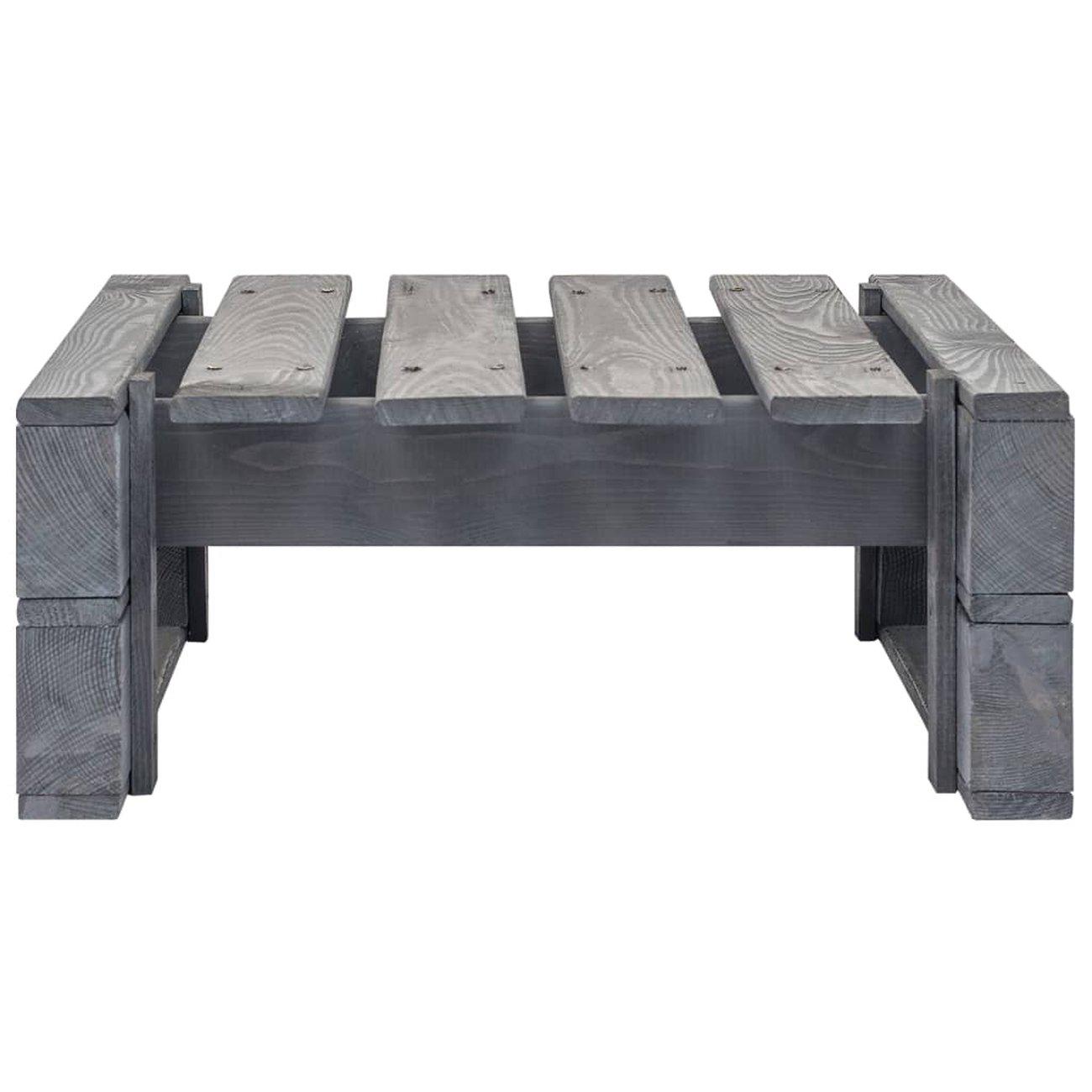 vidaxl repose pied palette de jardin bois fsc gris 2 v2