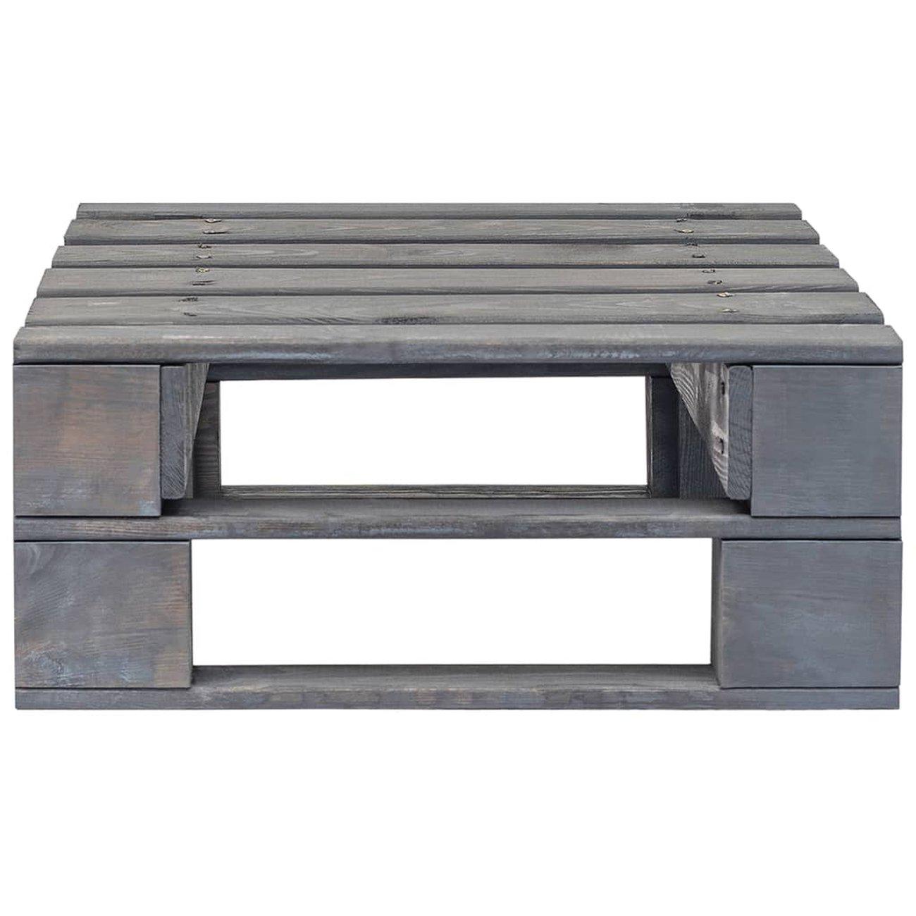 vidaxl repose pied palette de jardin bois fsc gris 3 v2