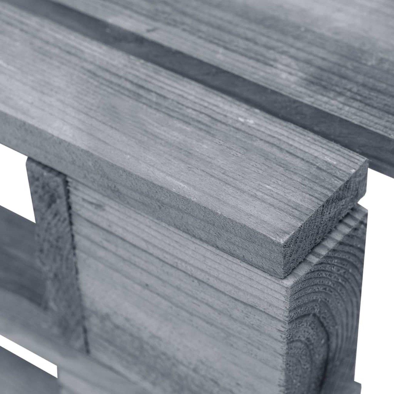 vidaxl repose pied palette de jardin bois fsc gris 4 v2