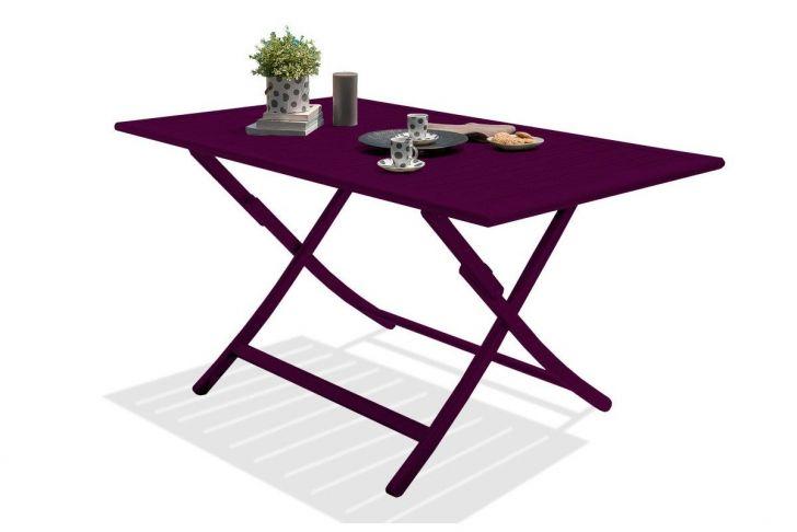 Table Bistrot 4 Personnes Charmant Table De Jardin De Repas Marius Rectangulaire Aubergine 4 6