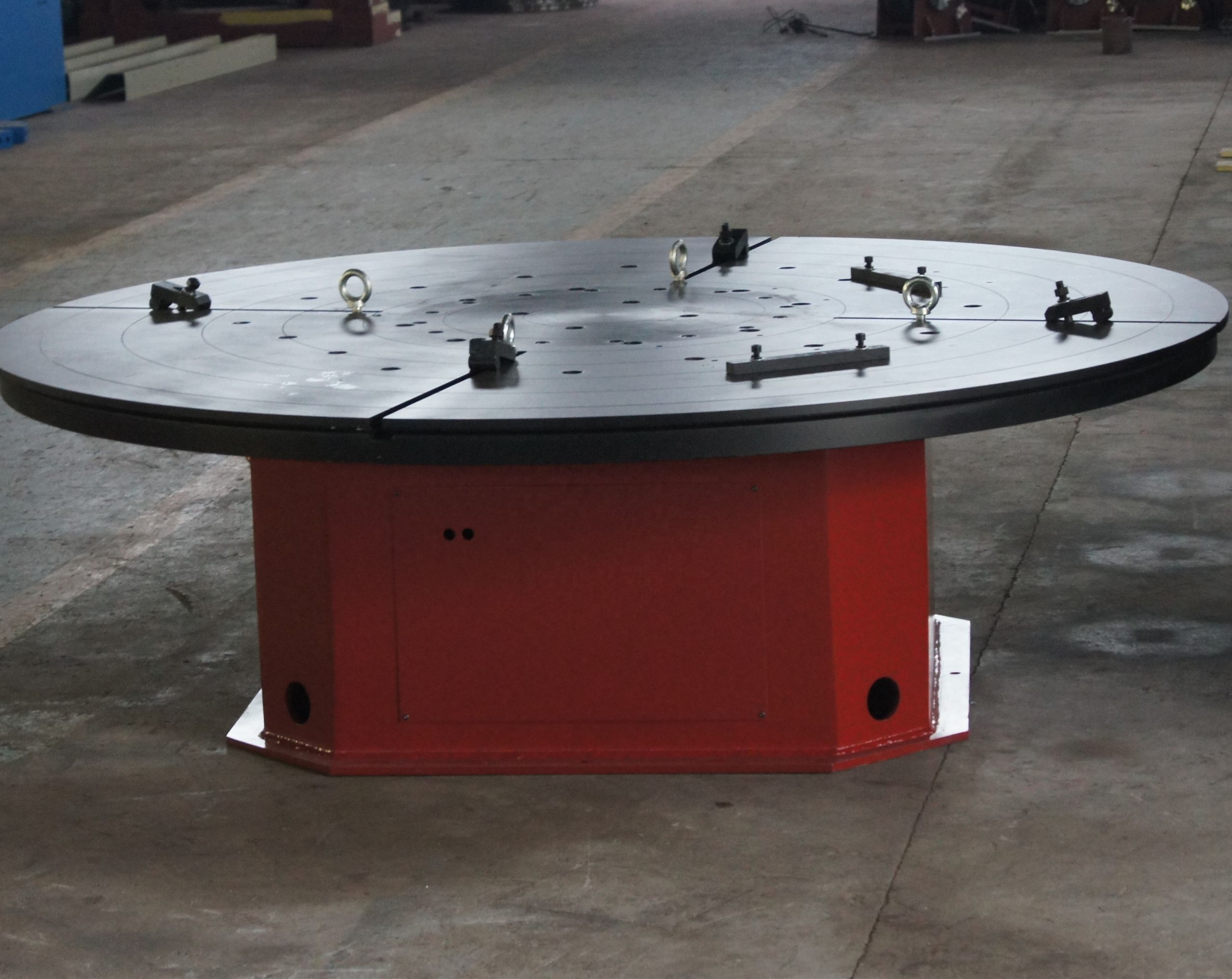 Auto rotating welding positioner table
