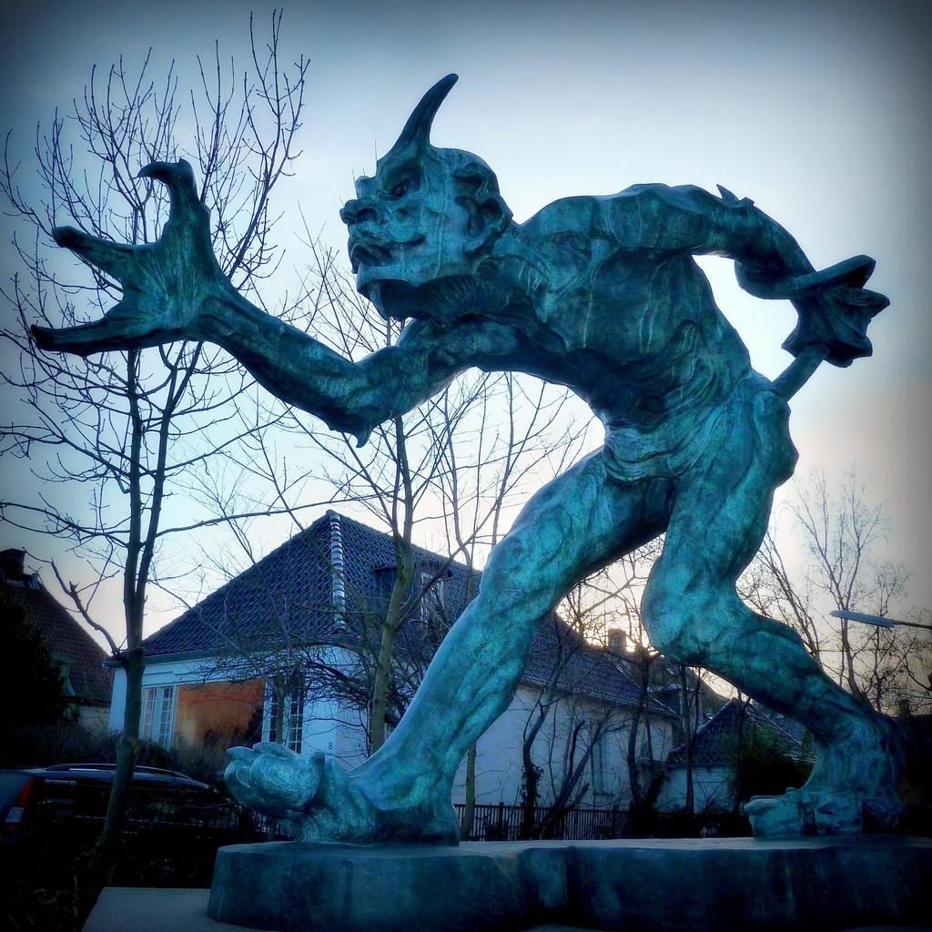 """Troll that smells Christian blood"" by Niels Hansen Jacobsen"