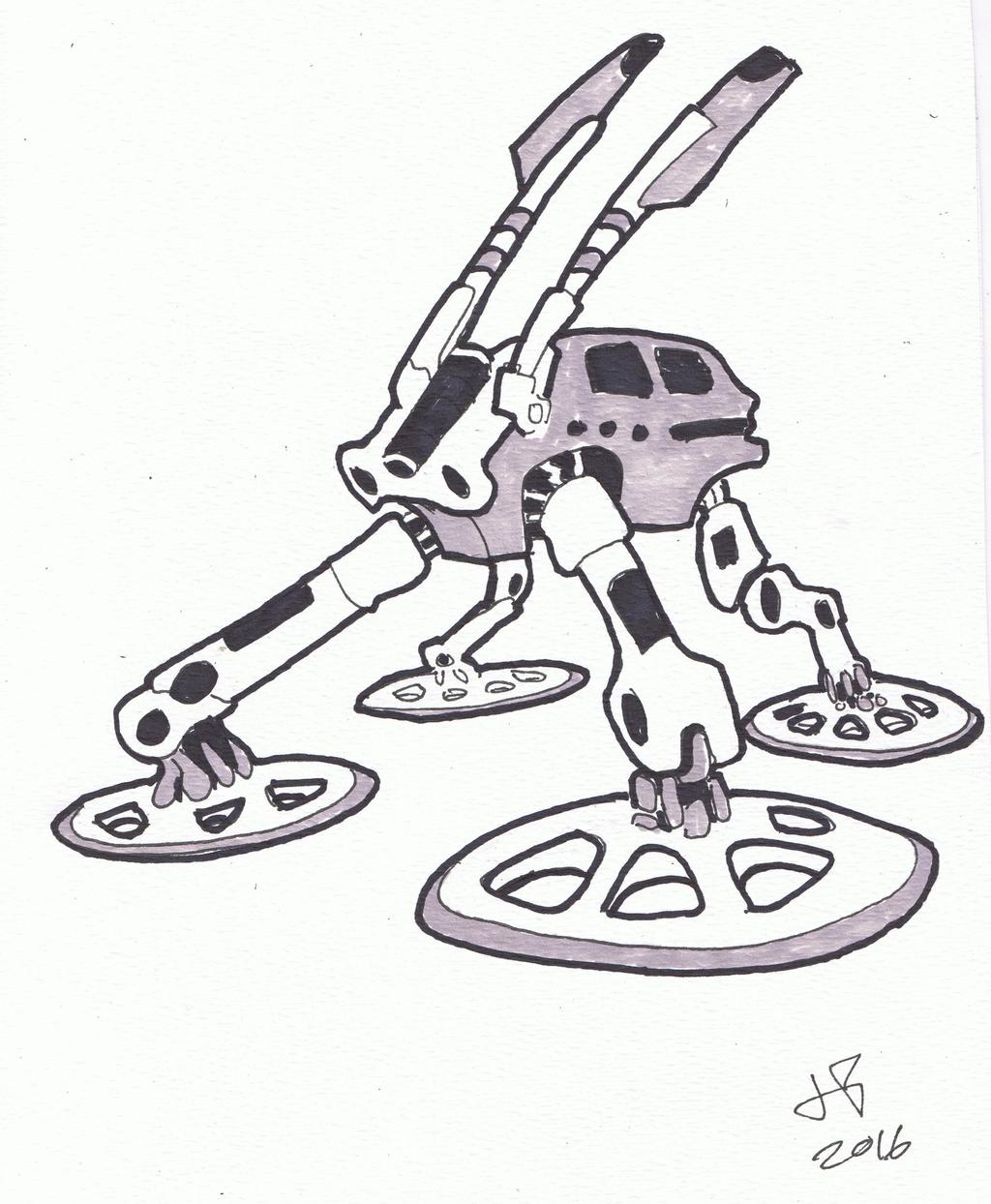 Ink and Marker Robot Illustration 23