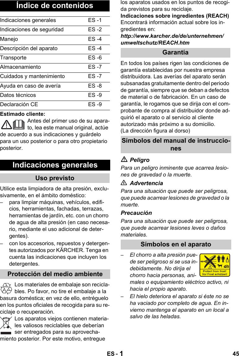 KarcherK5520 User Guide Page 45
