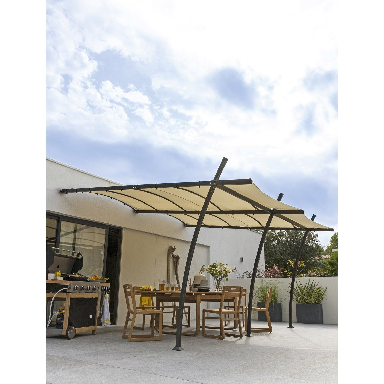 pergola sydney leroy merlin free gallery of veranda kit veranda avec structure de tonnelle adossee sydney acier gris fonce et pergola azura leroy merlin 11 1500x1500px pergola azura leroy merlin