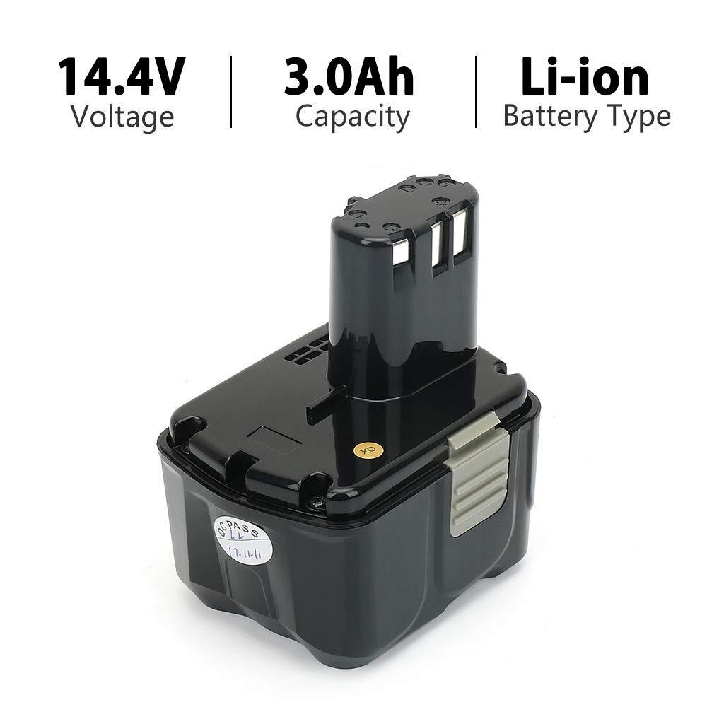 Table De Jardin Luxe Powergiant 14 4v 3 0ah Li Ion Batterie Pour Hitachi Bcl1430